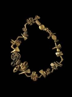 """An Asante Royal Necklace, """"suman"""""""
