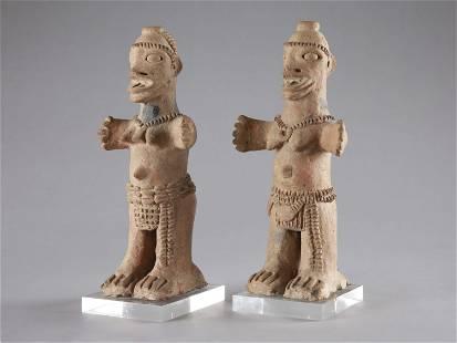 """A Pair of Koma-Bulsa Figures, """"kronkronbua"""""""
