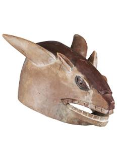 "A Yoruba Helmet Mask, ""gelede"" (?)"