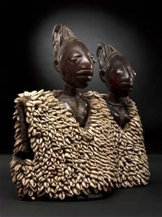 """A Yoruba Pair of Twin Figures, """"ere ibeji"""", Obembe"""