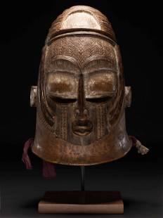 """An Igala Helmet Mask, """"egwu agba"""""""