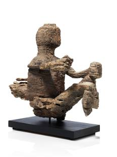 A Mbembe Slit Drum Finial Figure