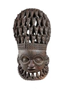 A Babanki Janiform Helmet Mask