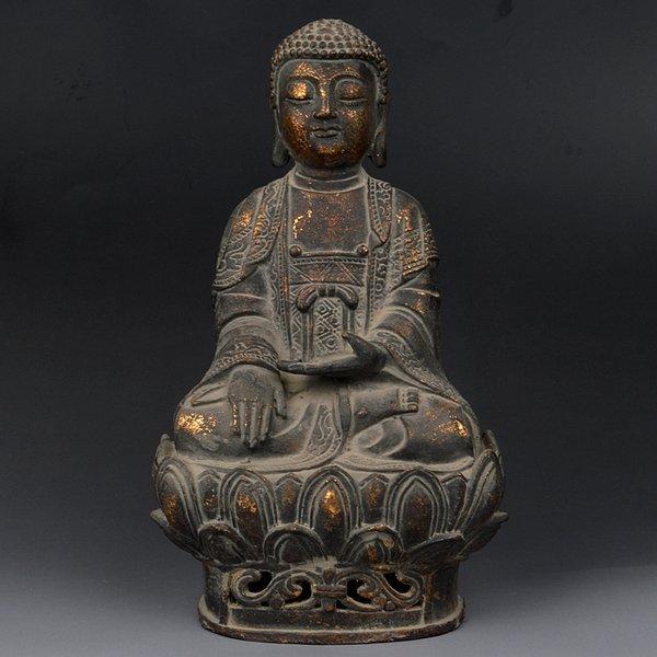 Chinese Qing Dynasty Bronze Buddha Statue