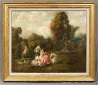 """Henri-FANTIN-LATOUR Oil Painting Garden Landscape """"Die"""