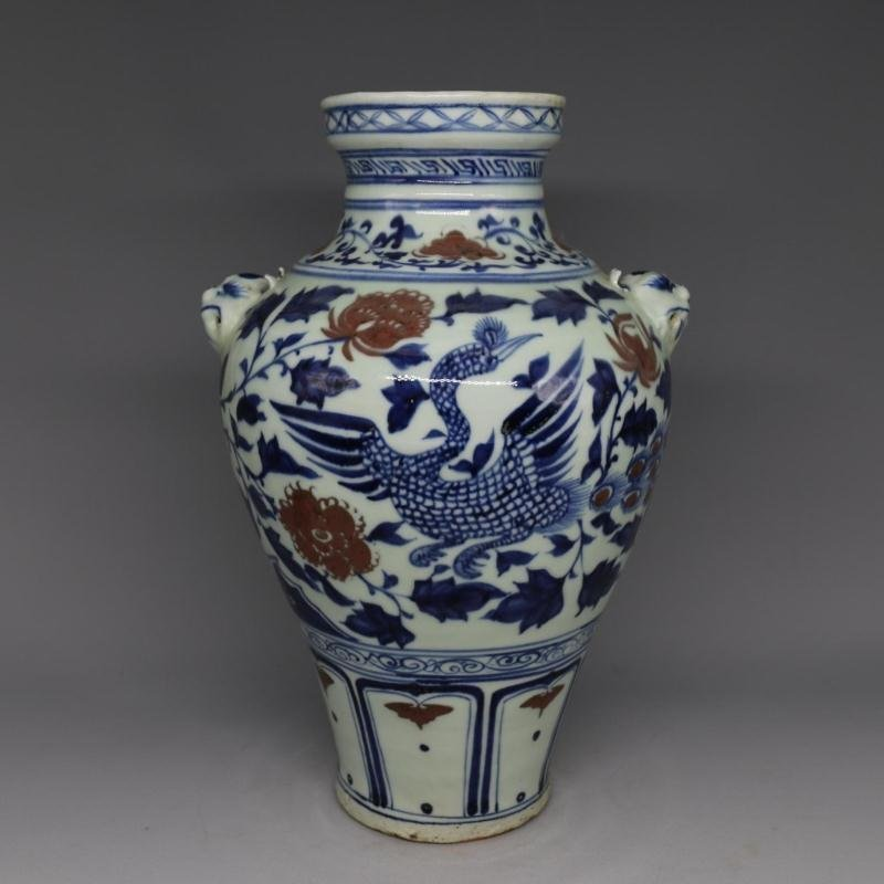 Chinese Yuan Dynasty Porcelain Brush Pot