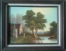 Original Oil/Canvas Landscape Painting Signed K Schmidt