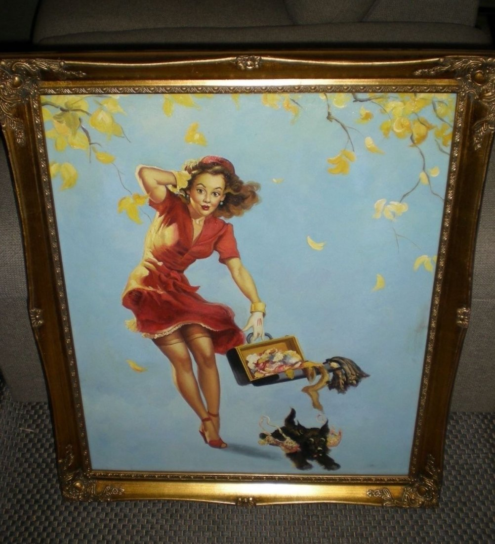 Original/Vintage PinUp Painting on Board - Gil Elvgren - 2