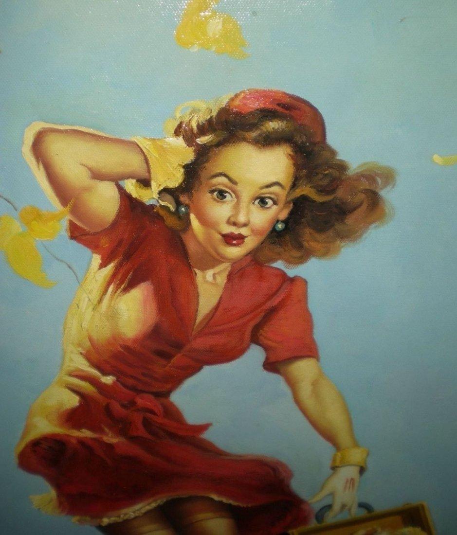 Original/Vintage PinUp Painting on Board - Gil Elvgren - 3