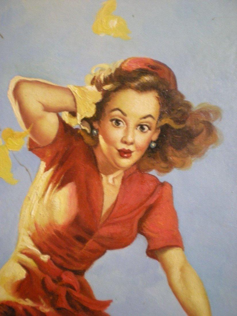 Original/Vintage PinUp Painting on Board - Gil Elvgren - 5