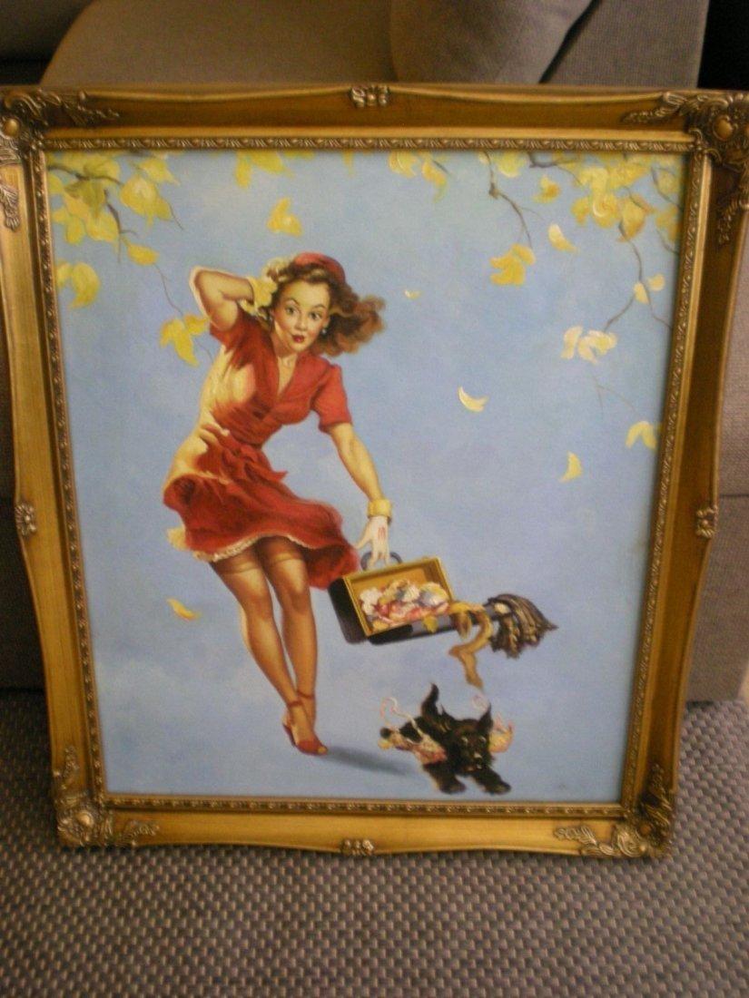 Original/Vintage PinUp Painting on Board - Gil Elvgren - 7