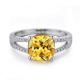 Silver Rhodium Diamond Ring