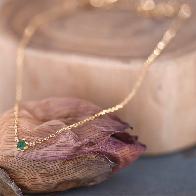 Sterling Silver Emerald Necklace - 4