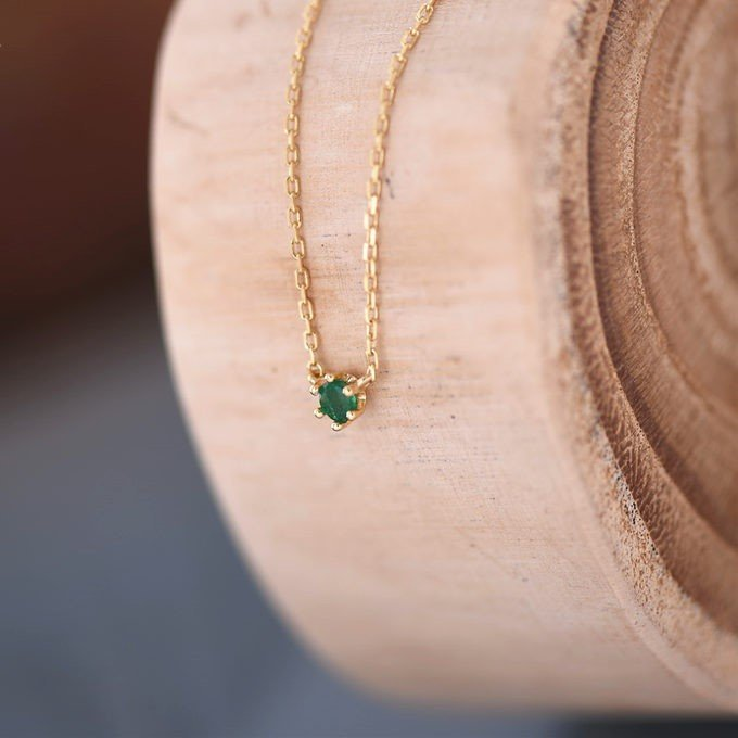Sterling Silver Emerald Necklace - 5