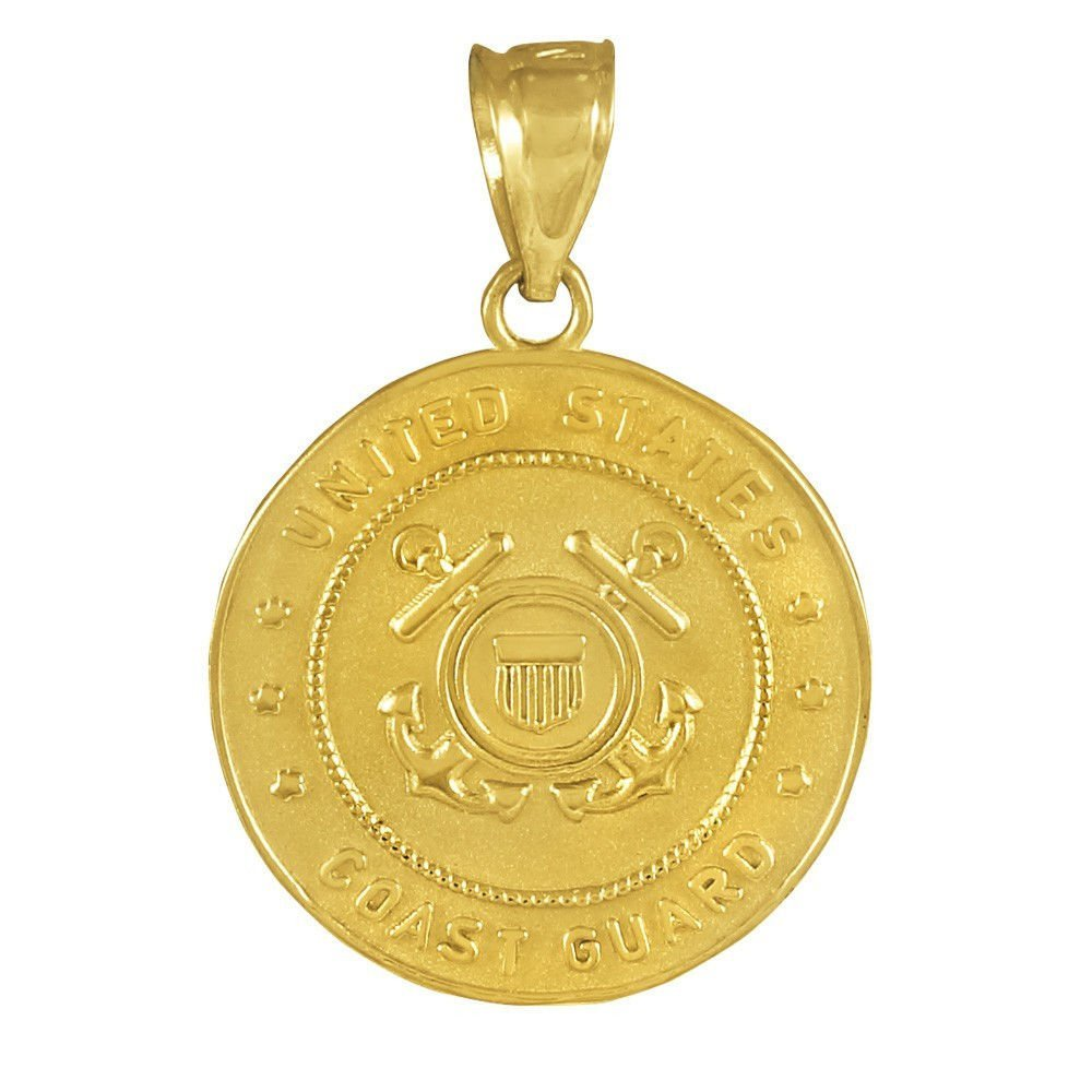 US Coast Guard Solid Gold Coin Pendant