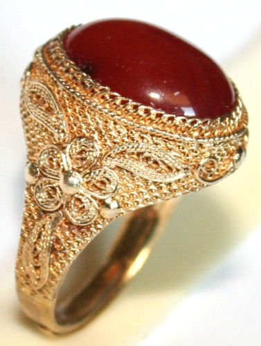 ANTIQUE ART DECO FINE CHINESE RING SILVER GOLD PL