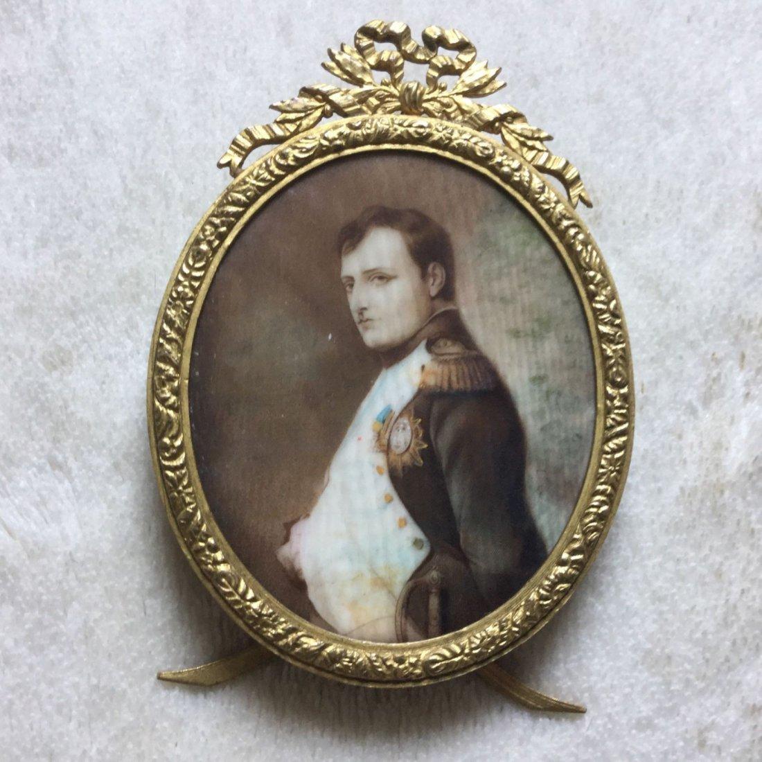 Antique Miniature Painting of Napolean Bonaparte