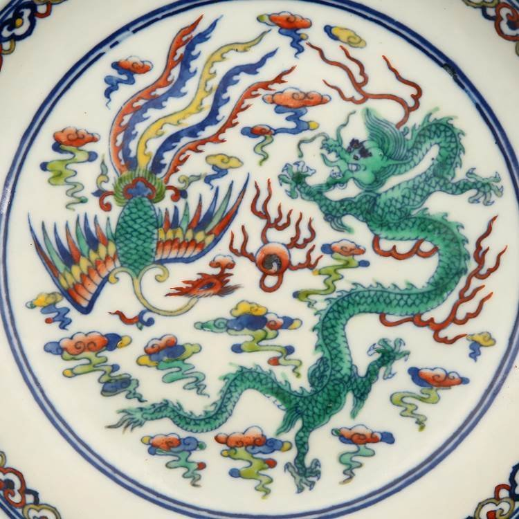 Chinese Qing Dynasty  Blue & White Porcelain Plate I - 2