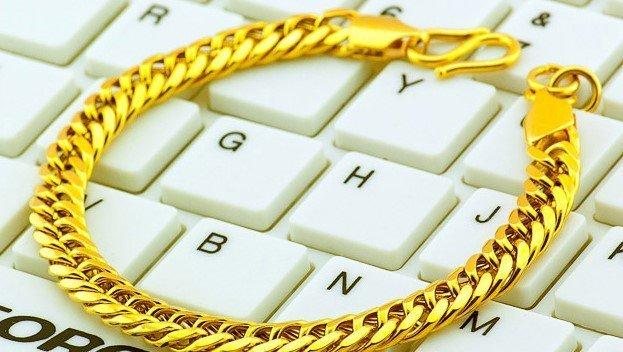18K Gold Male Bracelet