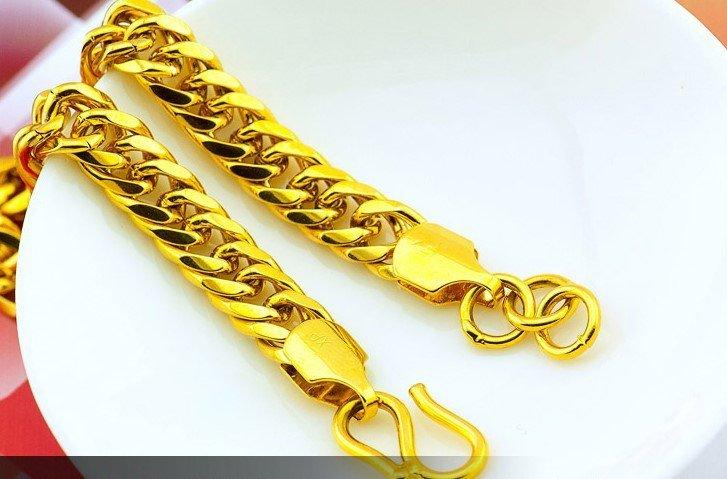18K Gold Male Bracelet - 2