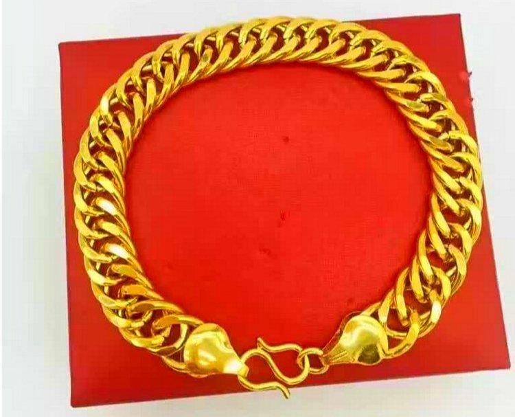 18K Gold Male Bracelet - 4