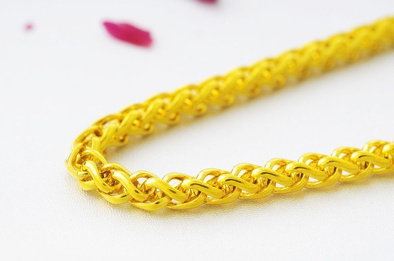 18K Gold Male Necklace