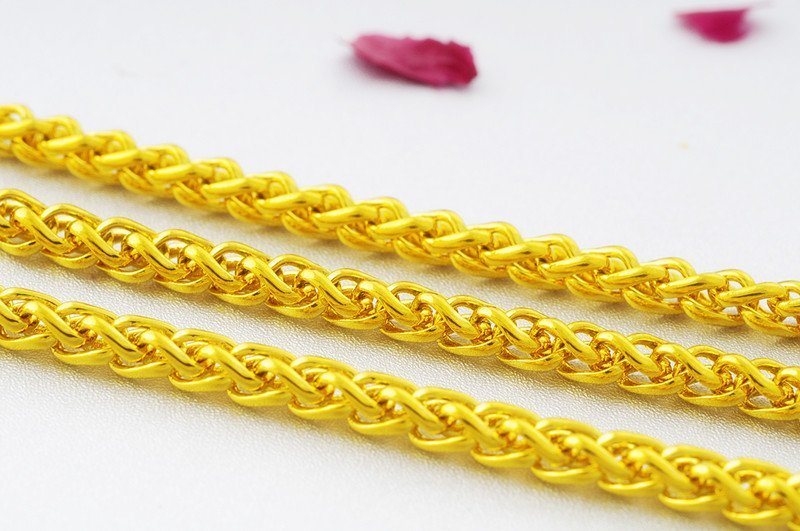 18K Gold Male Necklace - 5