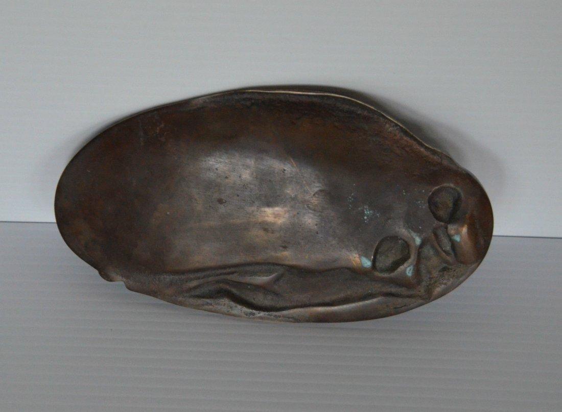 Vintage c.1920 Bronze Nude Change Tray - 3