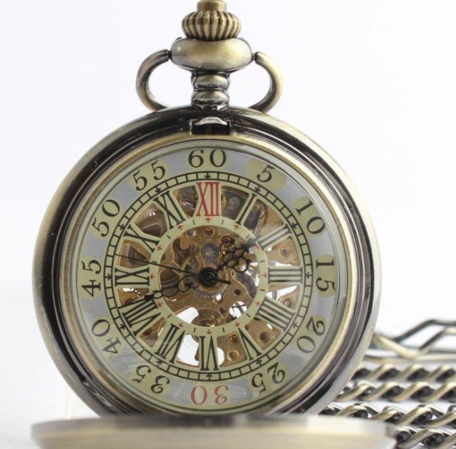 Antique Bronze Pocket Watch - 2