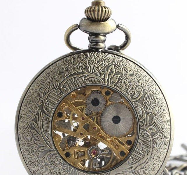 Antique Bronze Pocket Watch - 3