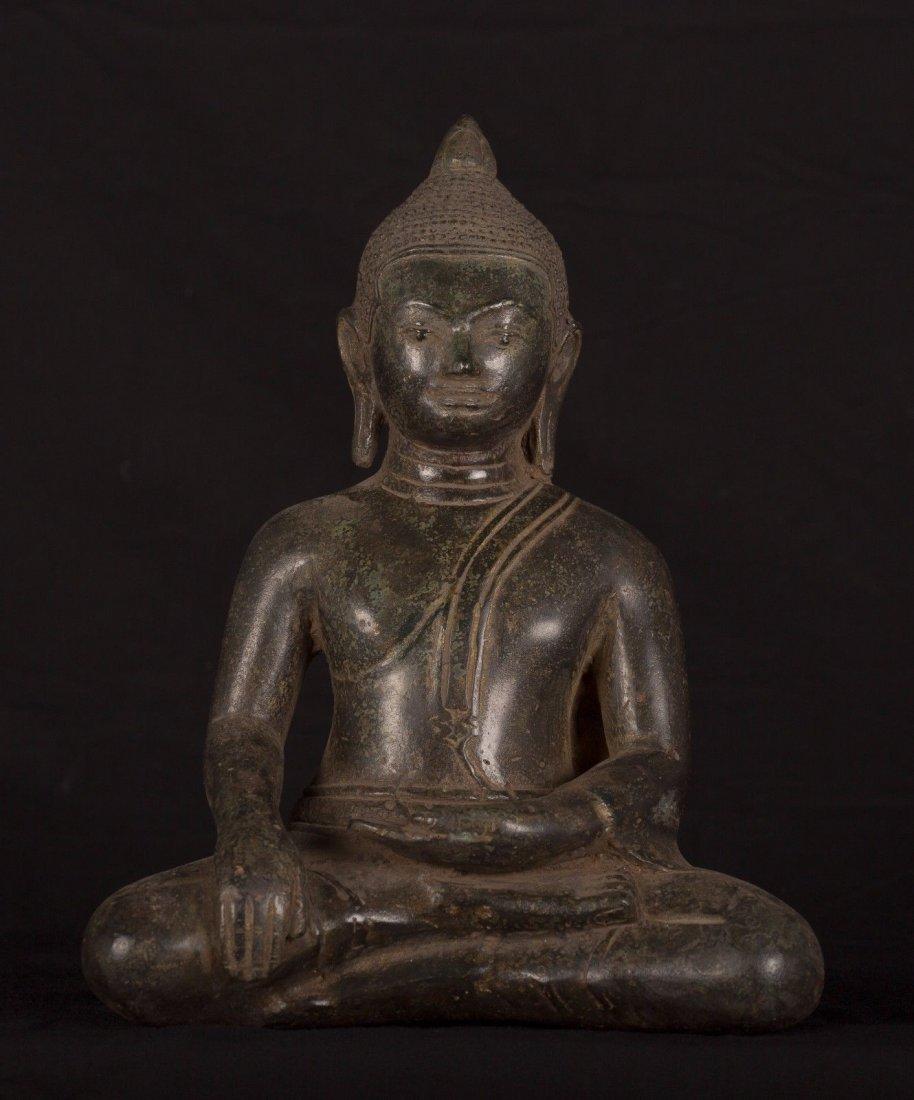 19th Century Antique Khmer Enlightenment Buddha Statue