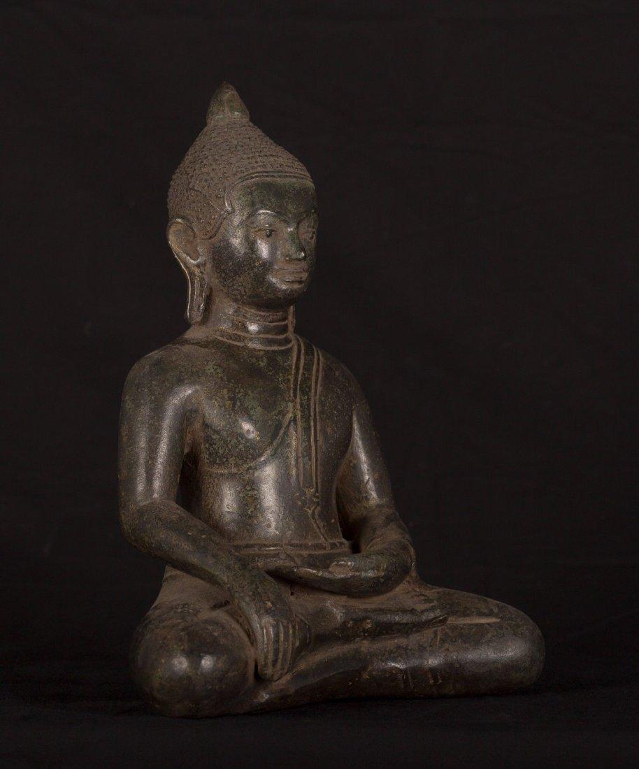 19th Century Antique Khmer Enlightenment Buddha Statue - 2