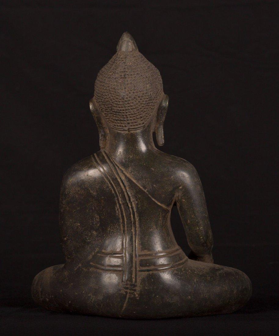 19th Century Antique Khmer Enlightenment Buddha Statue - 4