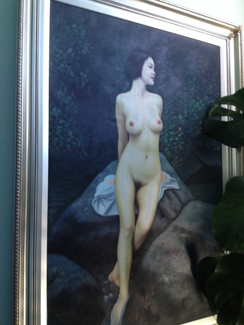 """Nude oil painting 24""""x36"""" framed"""