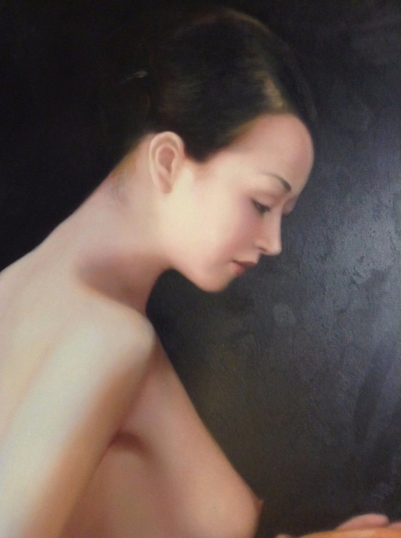 Female Nude Painting by Nan Jiang (Chinese, 20th - 2