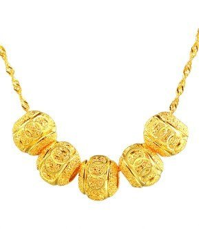 18k Gold Lady Necklace