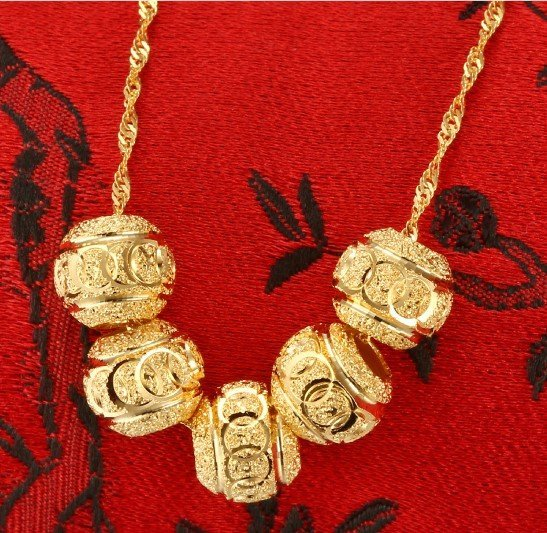 18k Gold Lady Necklace - 3