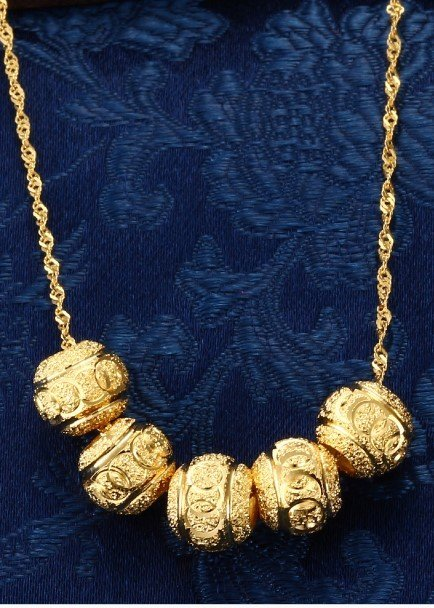 18k Gold Lady Necklace - 6