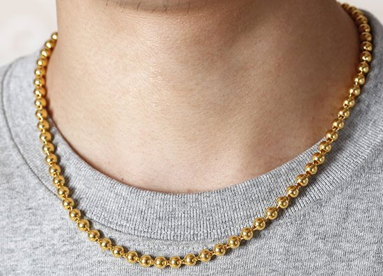 18K Gold Male Necklace - 3