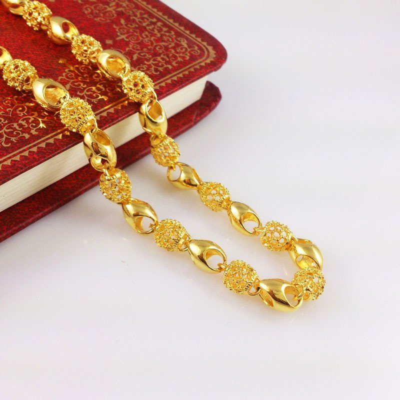 18K Gold Male Necklace - 6