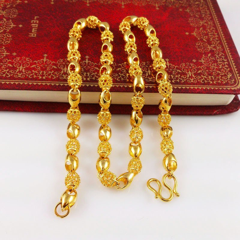 18K Gold Male Necklace - 7