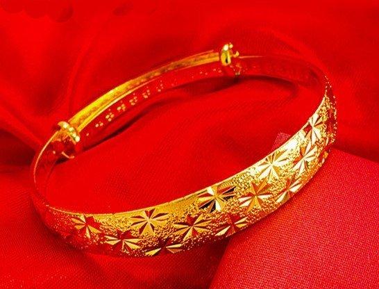 18K Gold Lady Bangle