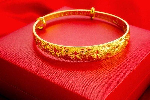 18K Gold Lady Bangle - 2