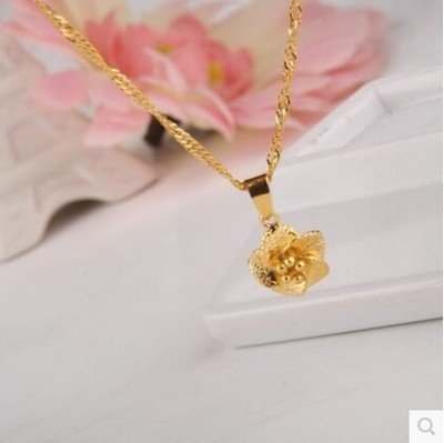 18k Gold Lady Necklace with Pendant - 3