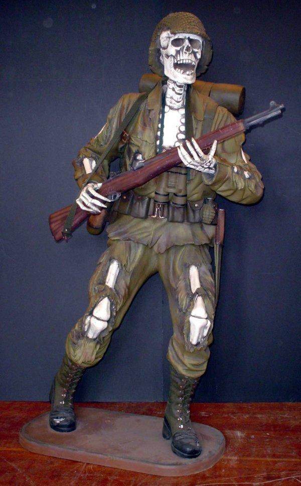 14: LIFE SIZE SKELETON SOLDIER 819