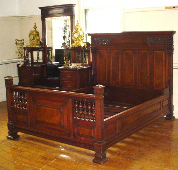 487: 2 PC SIGNED HERTER BROTHERS BEDROOM SET