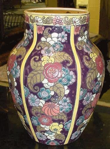 21: ART DECO LARGE VASE 11084