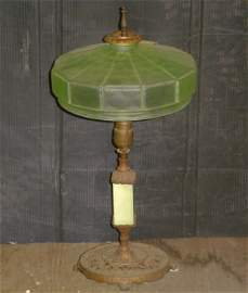 1149: IRON AND ONYX TABLE LAMP