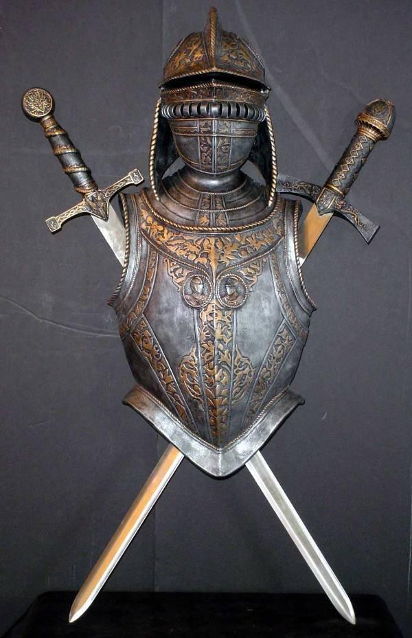 16: ARMOR WITH 2 CROSS SWORDS 1109B