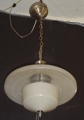 GREAT ANTIQUE ART DECO SCHOOL HOUSE LIGHT 3010